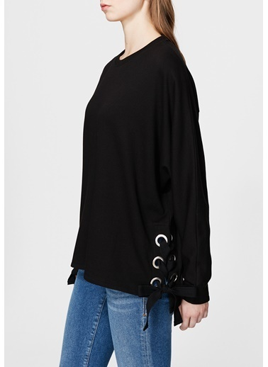 Mavi Sweatshirt Siyah